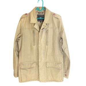 OBEY PROPAGANDA khaki utility jacket EUC